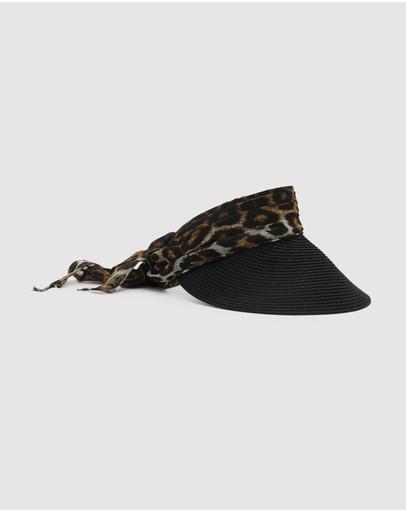 Morgan & Taylor Tia Visor Black Leopard