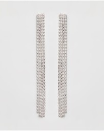 Liars & Lovers - Rhinestone Sleek Earrings