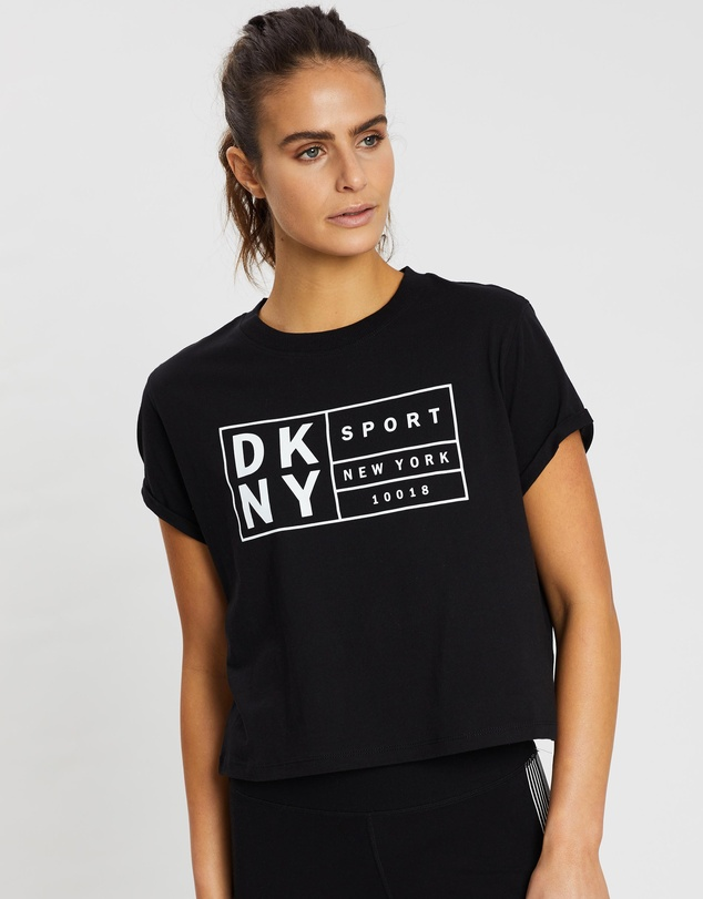 DKNY - Boxy Tee With Oversized Label