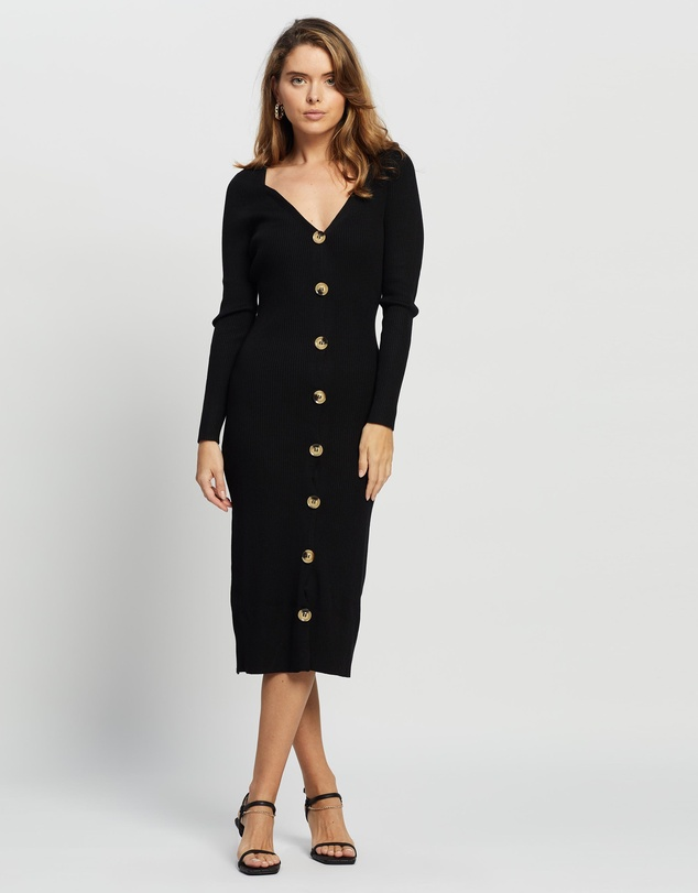 Missguided Petite - Petite Button Front Knit Dress