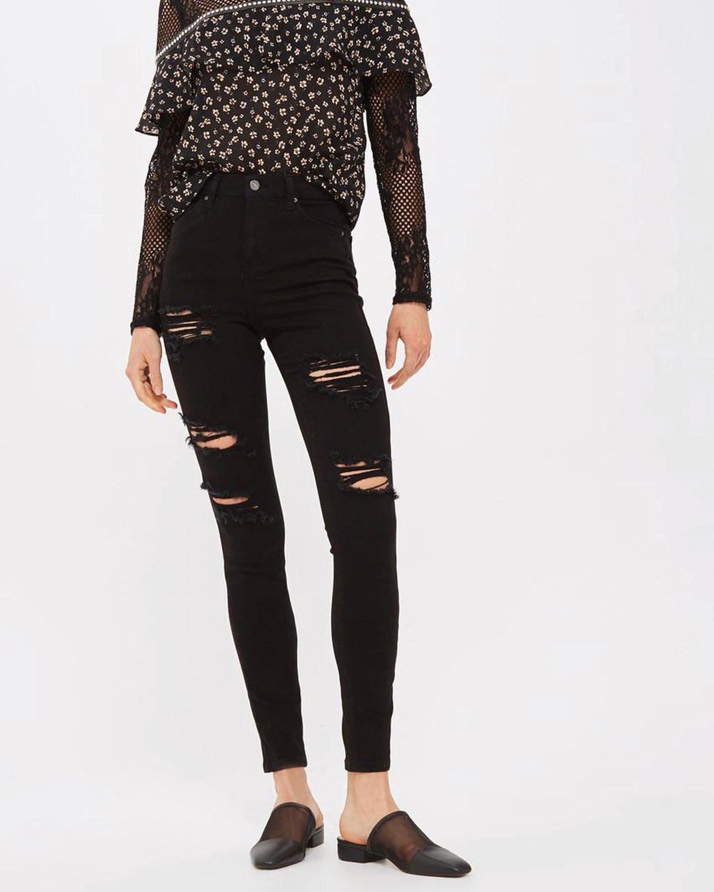 a56d03298 MOTO Cheeky Rip Jamie Jeans by TOPSHOP Online | THE ICONIC | Australia