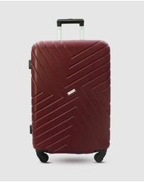 JETT BLACK - Merlot Maze Luggage Set