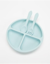 Cotton On Baby - Silicone Plate Cutlery Set
