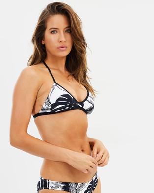 Seafolly – Palm Beach Action Back Tri Bikini Top Black