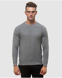 Brooksfield - Crew Neck Textured Sweater