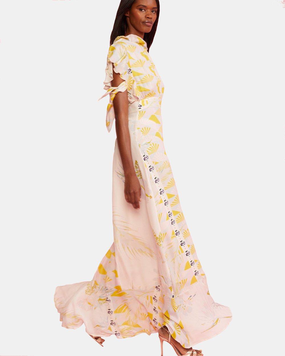 5124fdd3a09f7c Talia Printed Tie Sleeve Dress by Cynthia Rowley Online