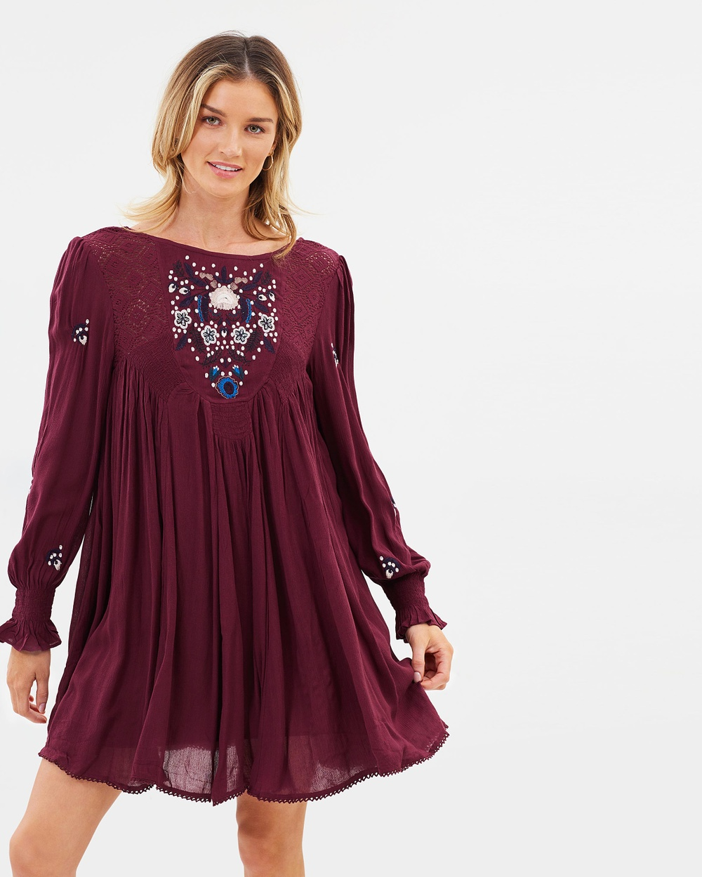 Free People Mohave Mini Dress Dresses Plum Mohave Mini Dress