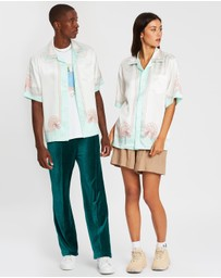 Casablanca - Printed Short Sleeve Satin Shirt - Unisex