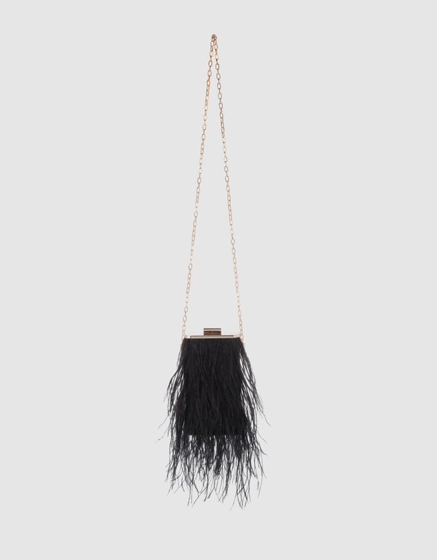 Olga Berg - Tonia Feather Fringed Shoulder Bag