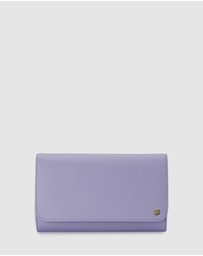 Olga Berg - Anabelle Saffiano Fold Over Clutch