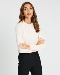 Dorothy Perkins - Two-In-One Spot Collar Jumper