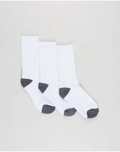 SofSole - 3-Pack School Cushion Crew Socks - Kids