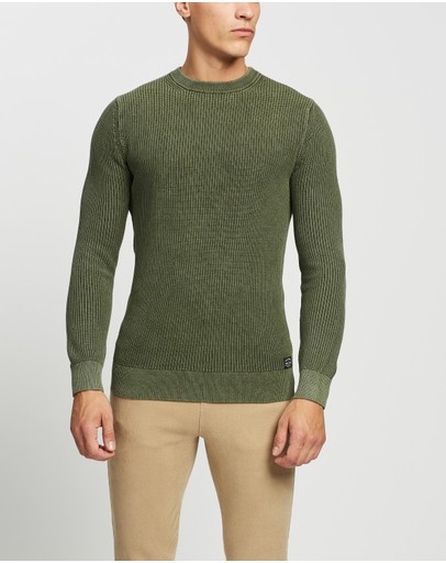 Superdry - Academy Dyed Texture Crew Jumper