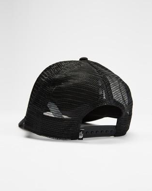 The North Face Logo Trucker - Headwear (Black & White)