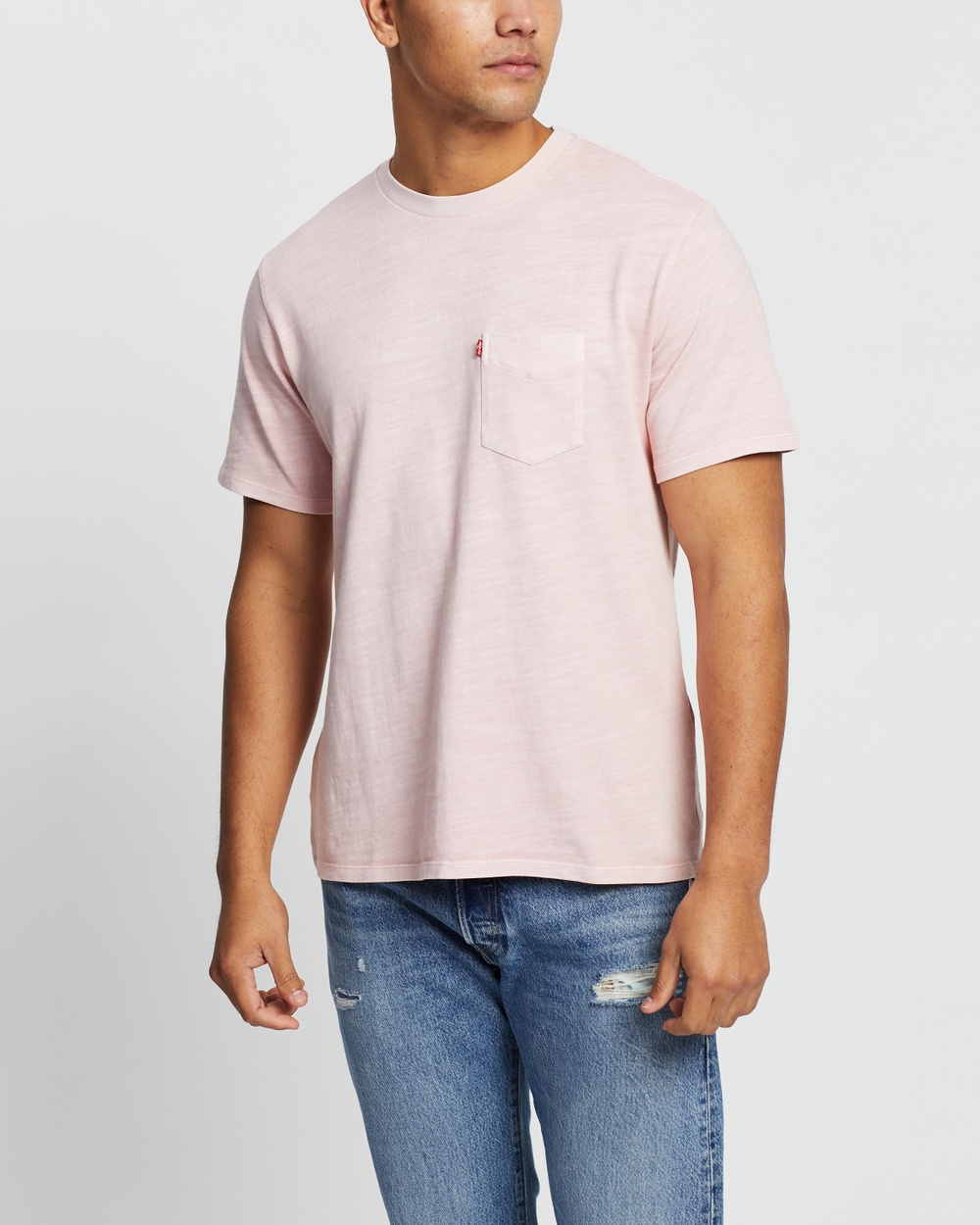 Levi's - Relaxed Garment Dyed Pocket Tee - T-Shirts & Singlets (Powder Pink) Relaxed Garment Dyed Pocket Tee