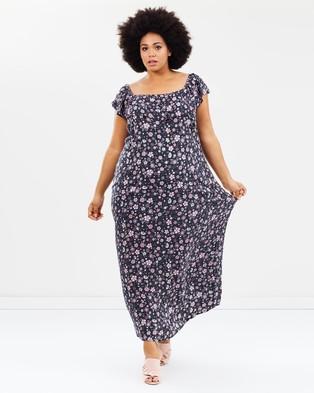 EVANS – Floral Gypsy Maxi Dress Dark Multi