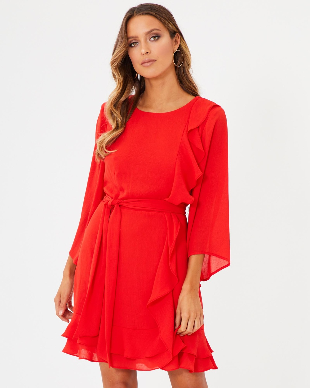 Photo of Tussah Red Alma Ruffle Mini Dress - beautiful dress from Tussah online