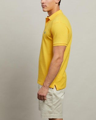 Polo Ralph Lauren ICONIC EXCLUSIVE   Short Sleeve Knit Polo - Shirts & Polos (Yellowfin)