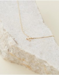 By Charlotte - 14K Gold Love L Necklace
