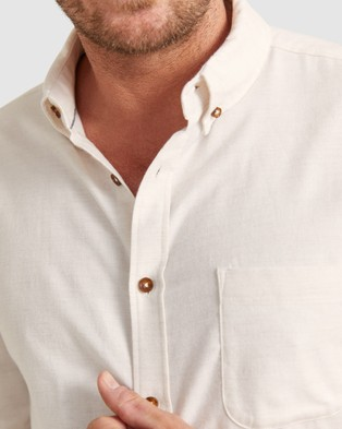 Sportscraft - McLure Long Sleeve Shirt Shirts & Polos (Natural)