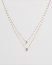 Natalie Marie Jewellery - Dotted Oval Layered Necklace