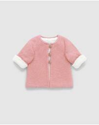 Purebaby - Cosy Lined Cardigan - Babies