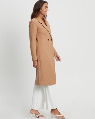 Tussah Shelby Oversized Coat - Coats & Jackets (Camel)