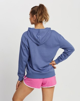 New Balance NB Essentials Stacked Logo Oversized Pullover Hoodie - Hoodies (Magnetic Blue)