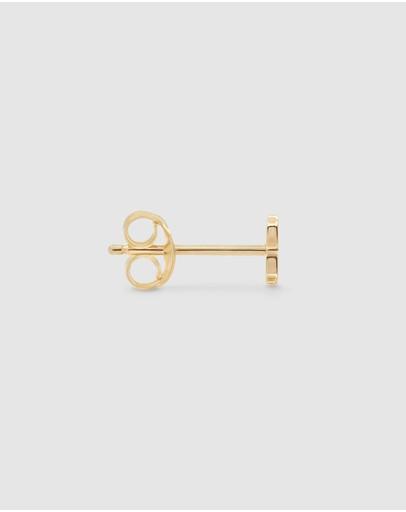 By Charlotte Love Letter 'k' Single Earring Gold