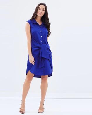 Closet London – Sleeveless with Big Tie Shirt Dress