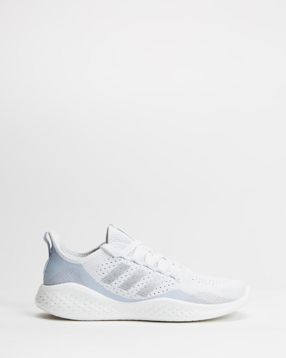adidas Performance Fluidflow 2.0 Women's Shoes White, Metallic Silver & Halo Blue