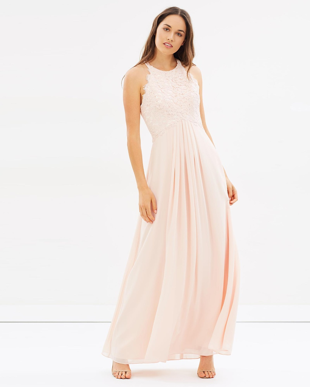 Alabaster The Label Graced by Lace Dress Bridesmaid Dresses Light Blush Pink Graced by Lace Dress