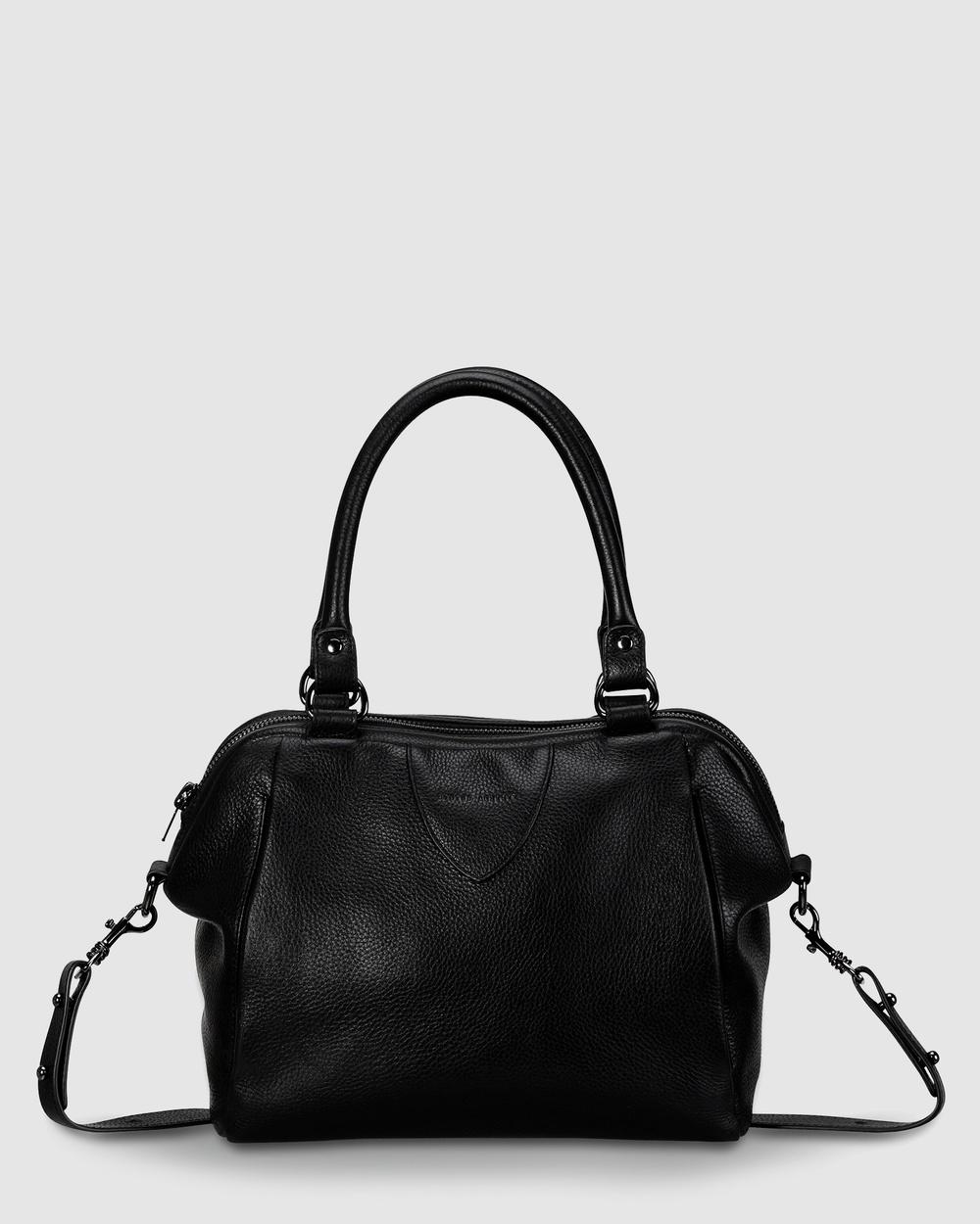 Status Anxiety Force of Being Handbag Satchels Black Leather bags Australia