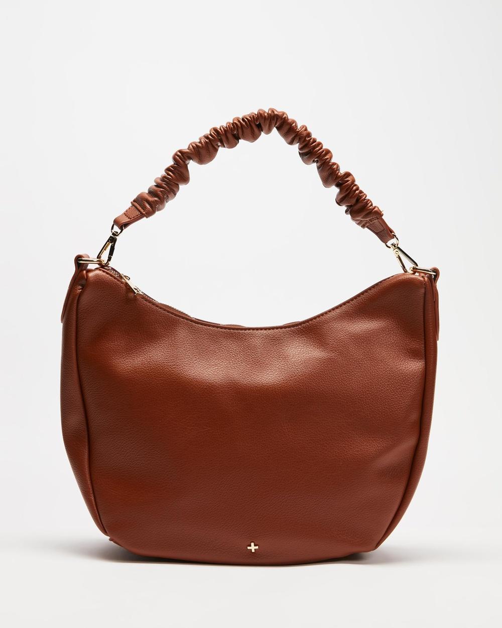 PETA AND JAIN Olive Handbags Tan Pebble
