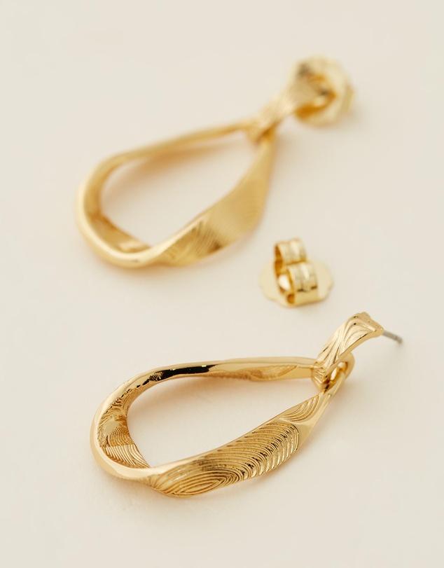 Women Moanna Ribbon Loop Drop Earrings