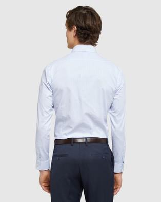 Oxford Beckton Dobby Striped Shirt - Shirts & Polos (Blue)