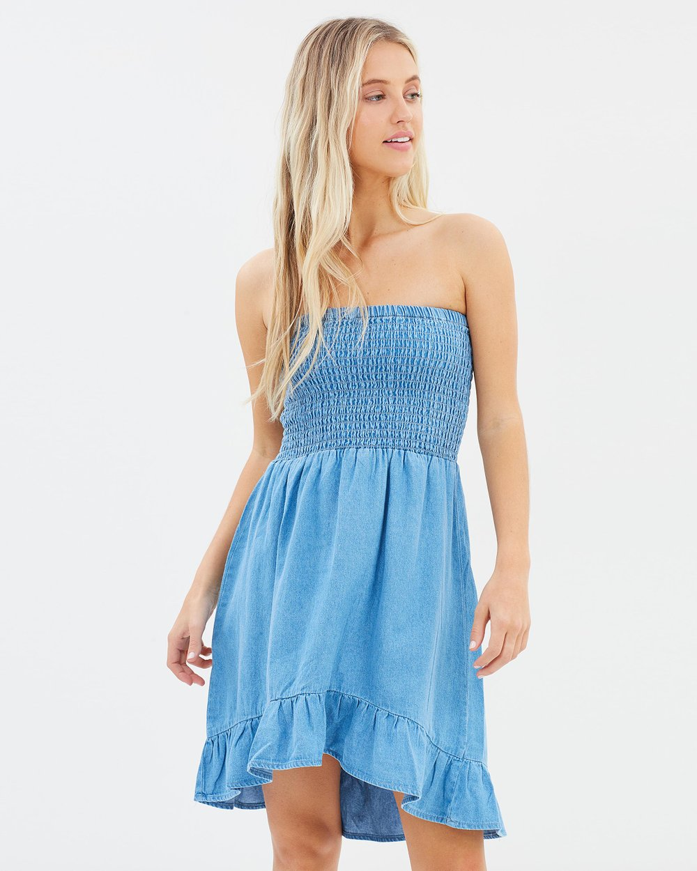 Embroidered Festival Bandeau Dress by Miss Selfridge Online | THE ...