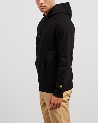 Carhartt Hooded Chase Sweatshirt - Hoodies (Black & Gold)