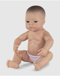 Miniland - Anatomically Correct Nude Baby Asian Boy