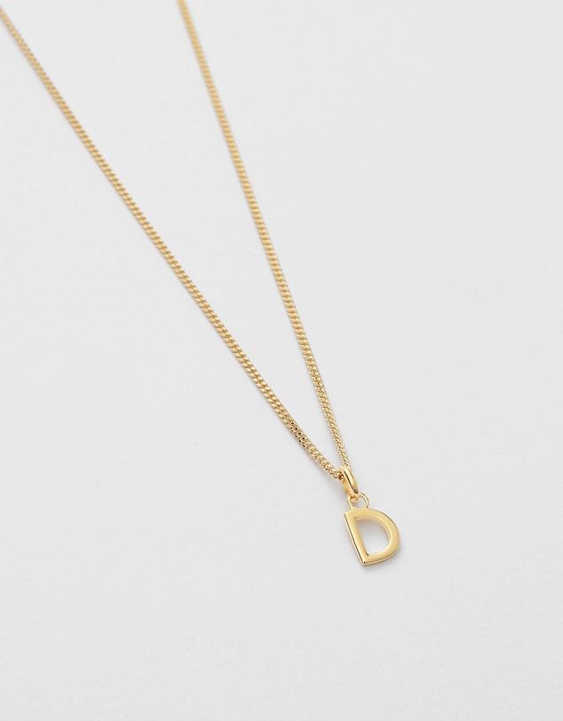 Women D Outline Initial Necklace