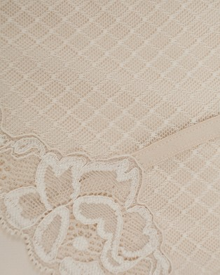 Hush Hush Whisper Firm Control Lace Brief - Briefs (NUDE)