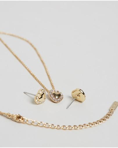 Mestige Lovin You Set With Swarovski Crystals® Gold
