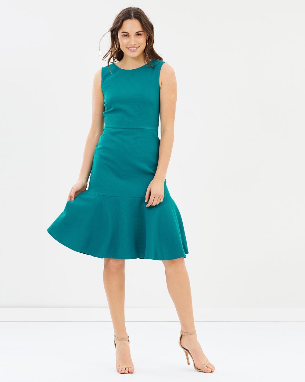 Closet London Sleeveless Peplum Dress Dresses Green Sleeveless Peplum Dress