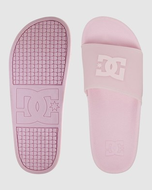 DC Shoes - Womens Platform Sliders Slippers & Accessories (BARELY PINK)