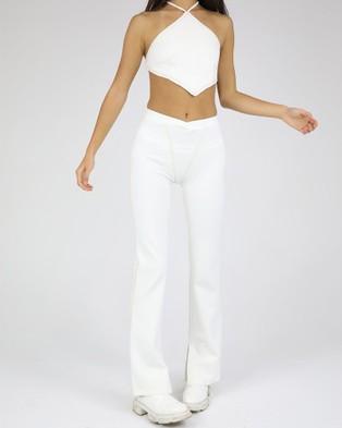 Dakota501 Ponte Pants - Pants (White)
