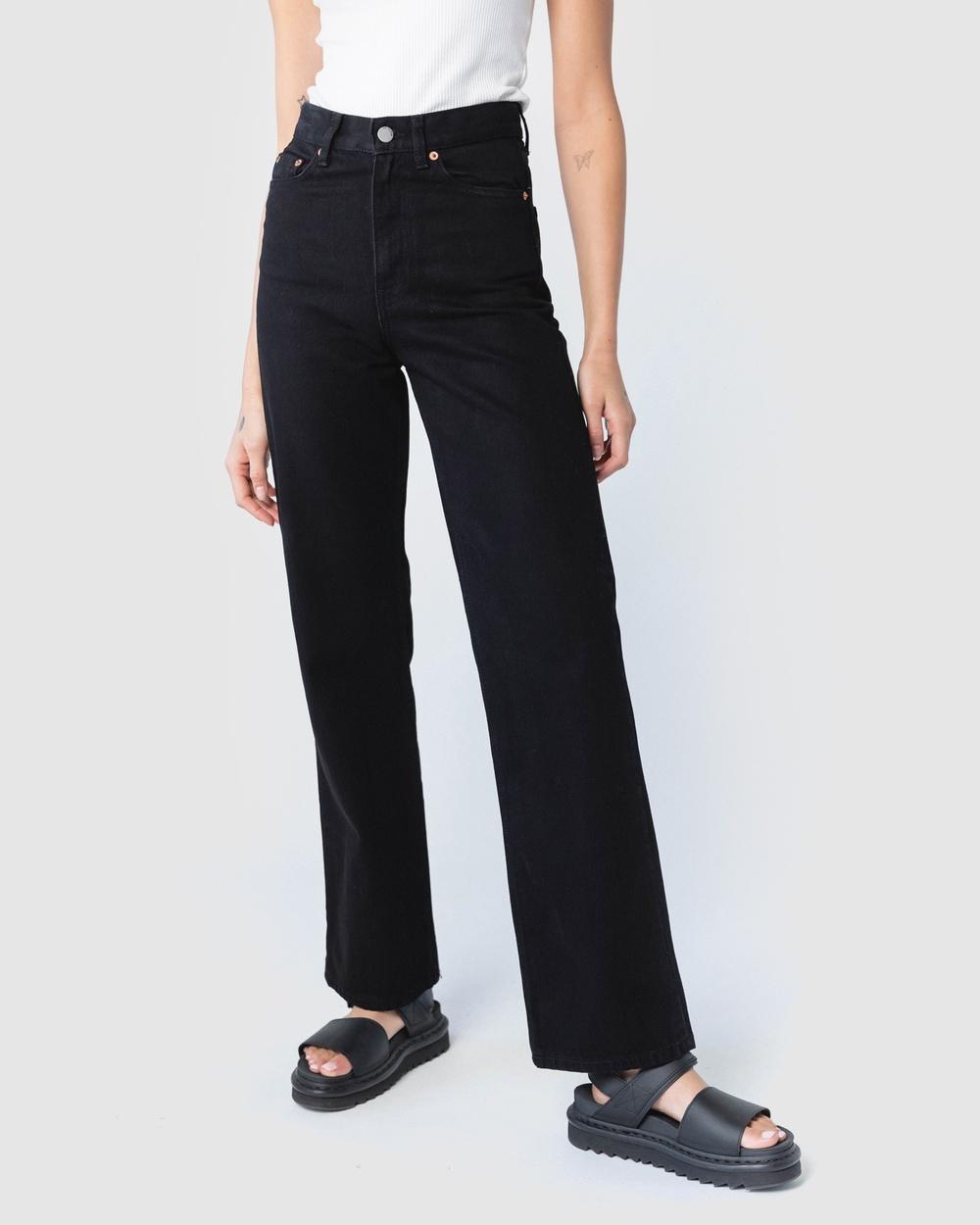 Dr Denim Echo Jeans High-Waisted Black Australia