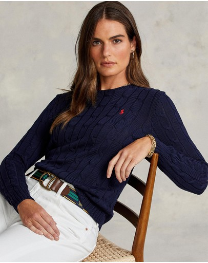 Polo Ralph Lauren - Julianna Cotton Cable Crew-Neck Sweater