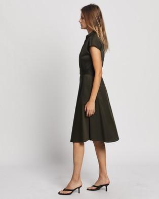 David Lawrence Cotton Shirt Dress - Dresses (Khaki)