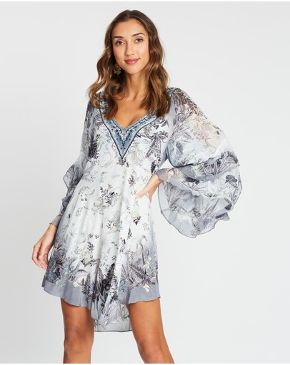 Camilla Raglan Dress With Ruffles Moonlit Musings