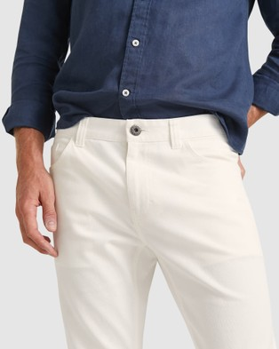 Sportscraft Bedford Tapered Jeans - Tapered (white)